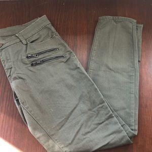 Bank NYC Green Denim Pants